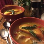 turkey soup with sage croûtes