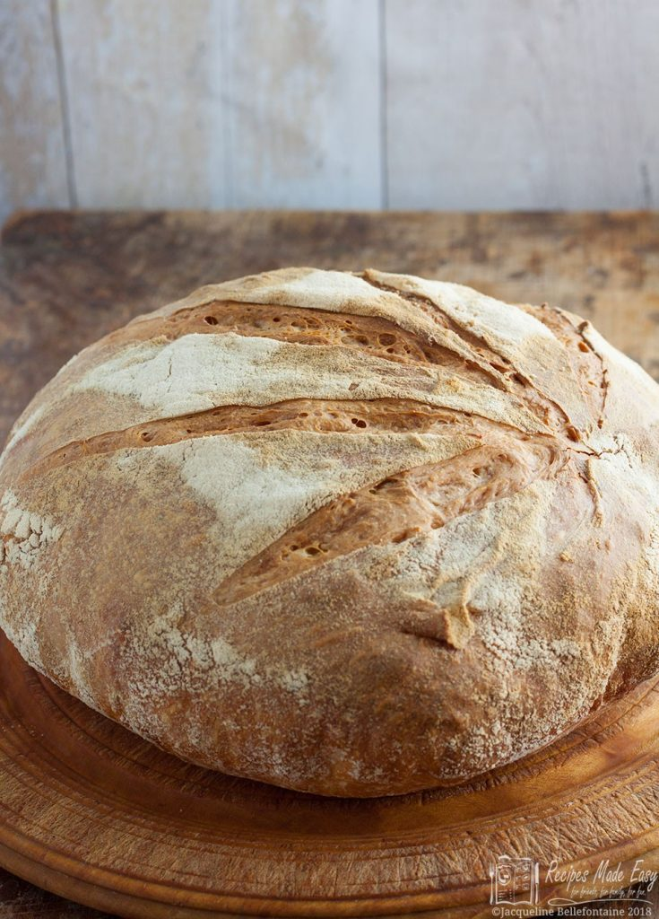 no-knead sourdough whole
