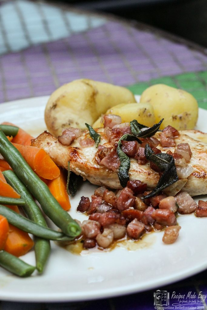 Pan Fried Chicken with Pancetta and Garlic