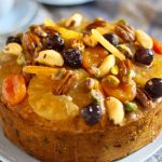 Special fruit and nut cake. Recipes made easy.