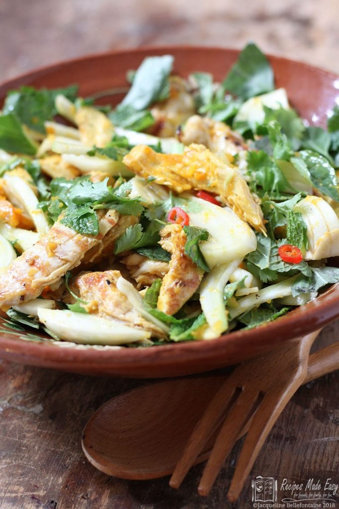 saffron chicken and herb salad. Recipes Made Easy.