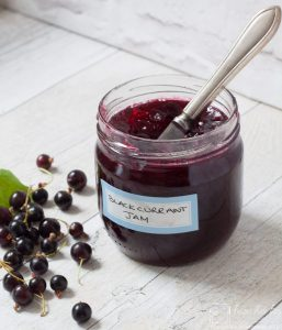 jar of blackcurrant jam by recipes made easy