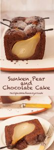 Sunken pear and chocolate cake by Recipes Made Easy