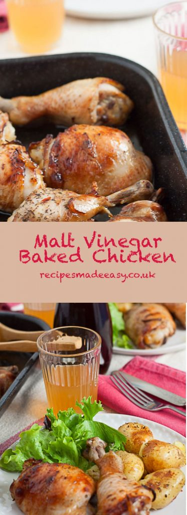 Malt Vinegar Baked Chicken by Recipes Made Easy and a visit to the Sarsons Vinegar Factory. A tasty and easy to prepare mid-week meal. #easy recipe #midweek meal #chicken #vinegar