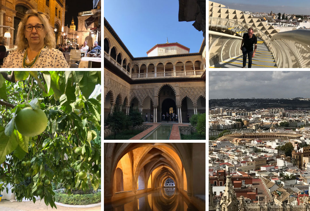 collage of pictures of seville