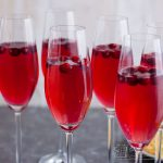 glasses of cranberry champagne cocktail