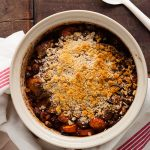 easy pork cassoulet in the cooking dish