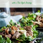 late of warm lamb salad with a thai dressing
