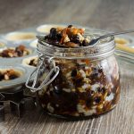 open jar of homemade mincemeat