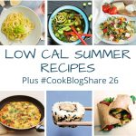 collage of low cal recipes.